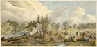 William P Kay Oct 1834 Process of Clearing town plot Stanley LAC C000017.jpg