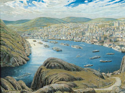 St. John's Harbour from Signal Hill by Harold Beament